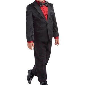 NWT Calvin Klein Boy's Velvet Jacket Tuxedo 4-PC